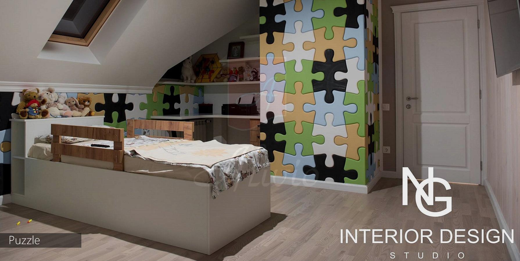 гипсовые панели 3d пазлы в детскую комнату фото