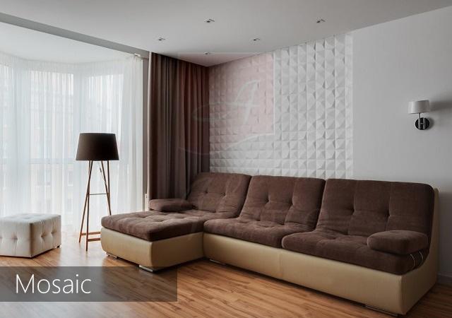 3d панели квадратики Mosaic для стен купить фото