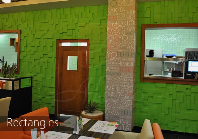декоративные гипсовые 3d панели Rectangles фото