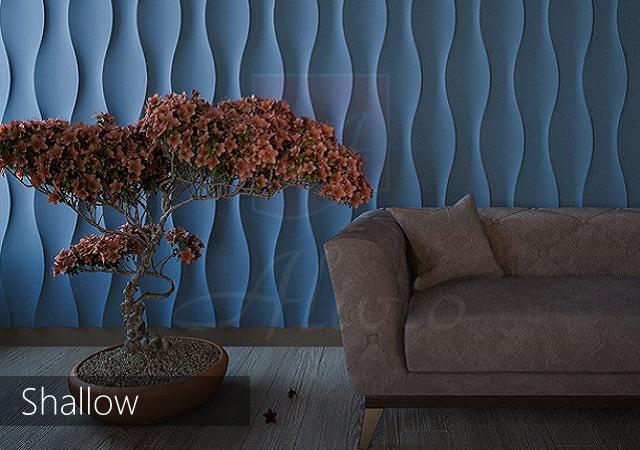 декоративные волнообразные панели для стен Shallow фото
