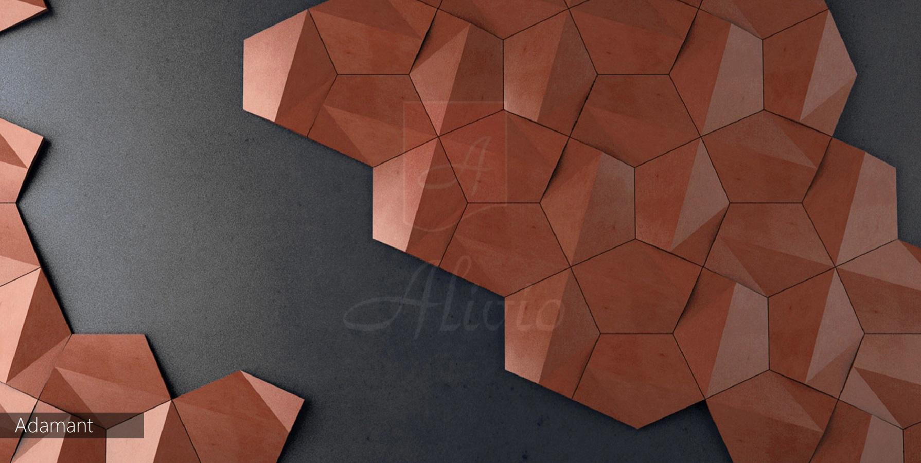 варианты отделки стен панели Alivio серии Adamant фото