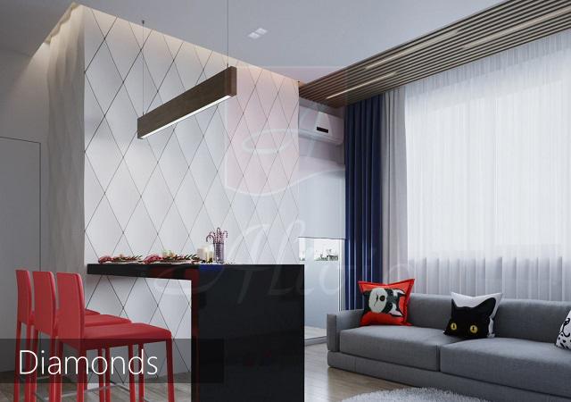 гипсовые 3d панели Diamonds фото