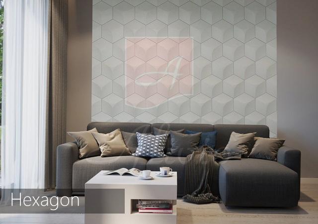 гипсовые стеновые панели Hexagon картинка