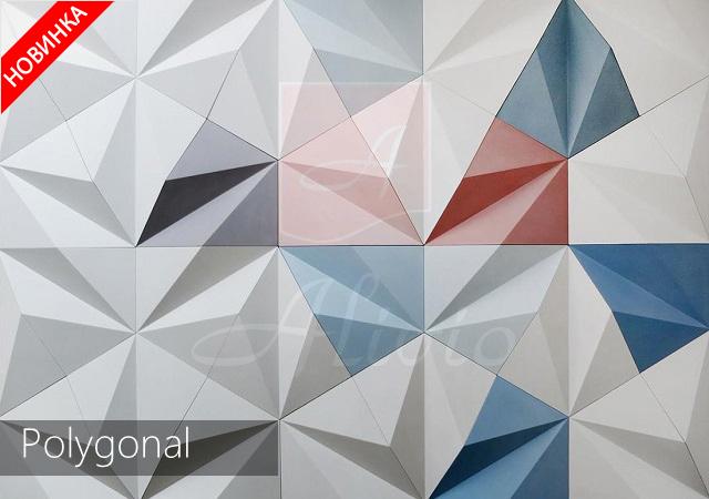 3д панели для стен Polygonal изображение