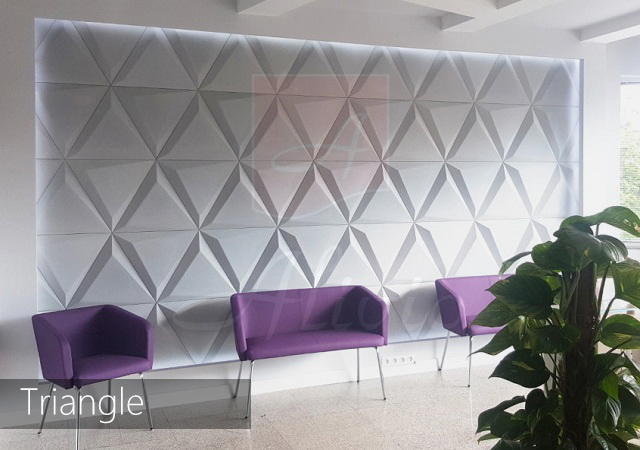 гипсовые панели для стен треугольник Triangle фото