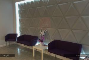Гипсовые 3d панели Alivio серии Triangle для  отделки стен, 3д панель, 3d wallpanel, 3d wall производитель цена купить Украина   alivio.com